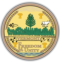 Vermont seal vector image