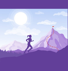 woman running to the point vector image