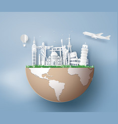 World tourism day vector