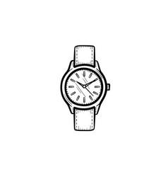 wrist watch hand drawn sketch icon vector image