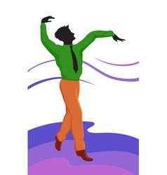 Dancing guy vector image vector image