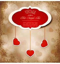 grunge romantic vintage background vector image vector image