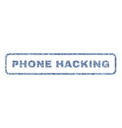 Phone hacking textile stamp vector