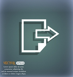 Export file icon File document symbol On the vector image