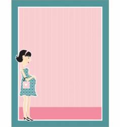 pregnant woman border vector image