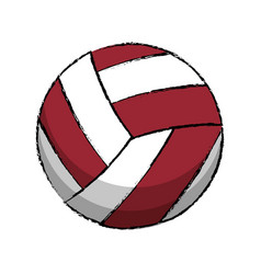 volleyball sport game icon vector image