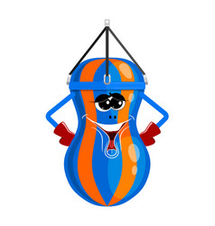 abstract image of a boxing bag with a cartoon vector image