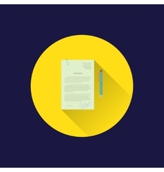 Flat document icon vector image