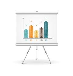 Flip chart business concept vector image vector image