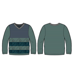 knitted pullover with pattern vector image vector image