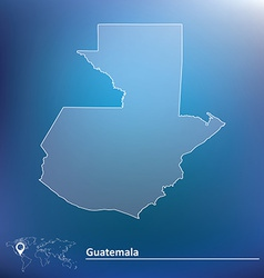 Map of Guatemala vector image vector image