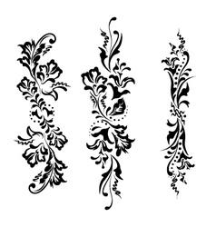 Set swirling decorative floral ornament vector image vector image