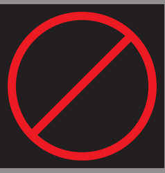 stop icon forbidden sign vector image