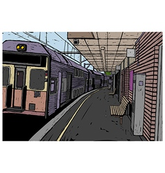 Train Station Background vector image vector image