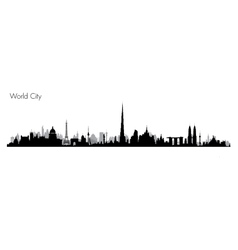 World Monuments vector image