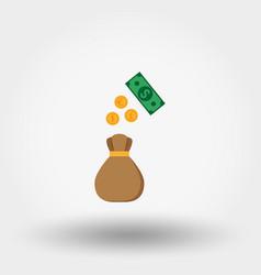 money bag dollar euro pound coin icon vector image vector image