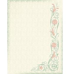 Ornamental floral wedding background vector image vector image