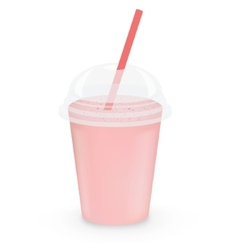 Strawberry milkshake vector image vector image