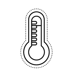 thermometer medical isolated icon vector image vector image