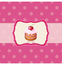 Vintage Frame With Cupcake vector image