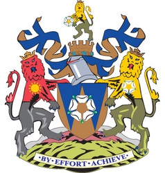 West Yorkshire County vector image