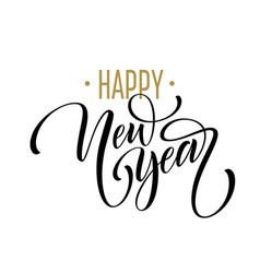 2019 happy new year beautiful handwritten modern vector image