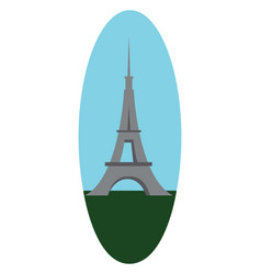 a beautiful architectural landmark tower made of vector image