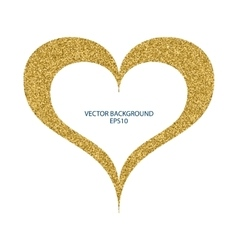 a heart gold vector image