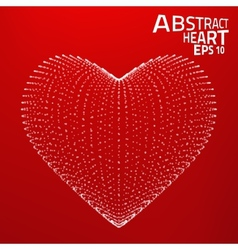 Abstract heart background Lines point vector