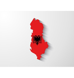 albania map with shadow effect vector image