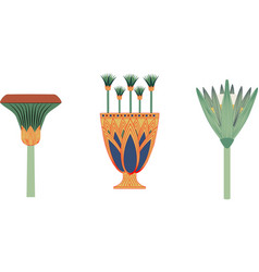 Ancient egypt cate and vase vector