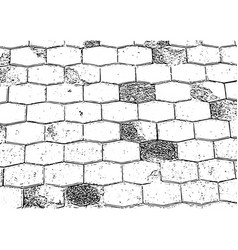 antique brick wall texture grunge old stone vector image