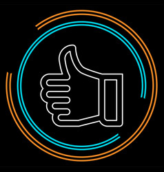 approved sign - hand thumb up icon vector image