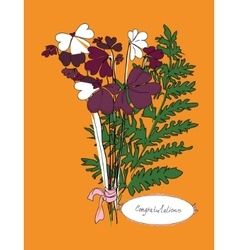 autumn bouquet vector image
