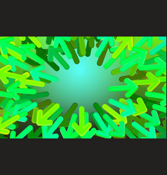 background start-up design green arrows directed vector image