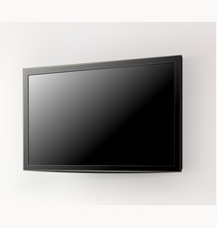 black led tv television screen on the wall vector image
