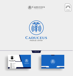 caduceus icon medical health care icon with vector image