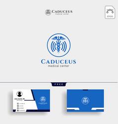 Caduceus icon medical health care icon with vector