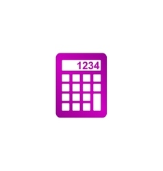 Calculator icon Flat design style vector image