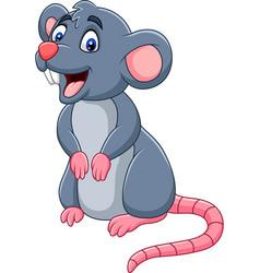 cartoon happy mouse vector image