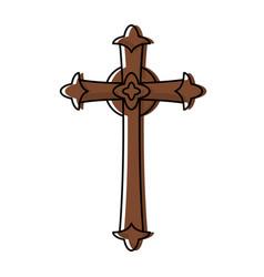 catholic cross design vector image