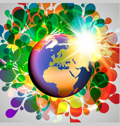 colorful world vector image