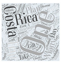 Costa rica trips word cloud concept vector