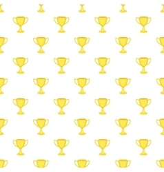 Cup championship pattern cartoon style vector