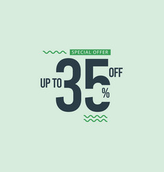 Discount special offer up to 35 off template vector