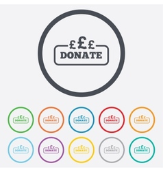 Donate sign icon Pounds gbp symbol vector image