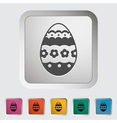 Easter Egg single vector image