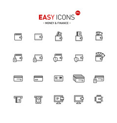 Easy icons 09a money vector