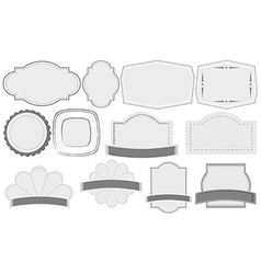 Empty label templates vector