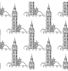 english big ben seamless pattern vector image